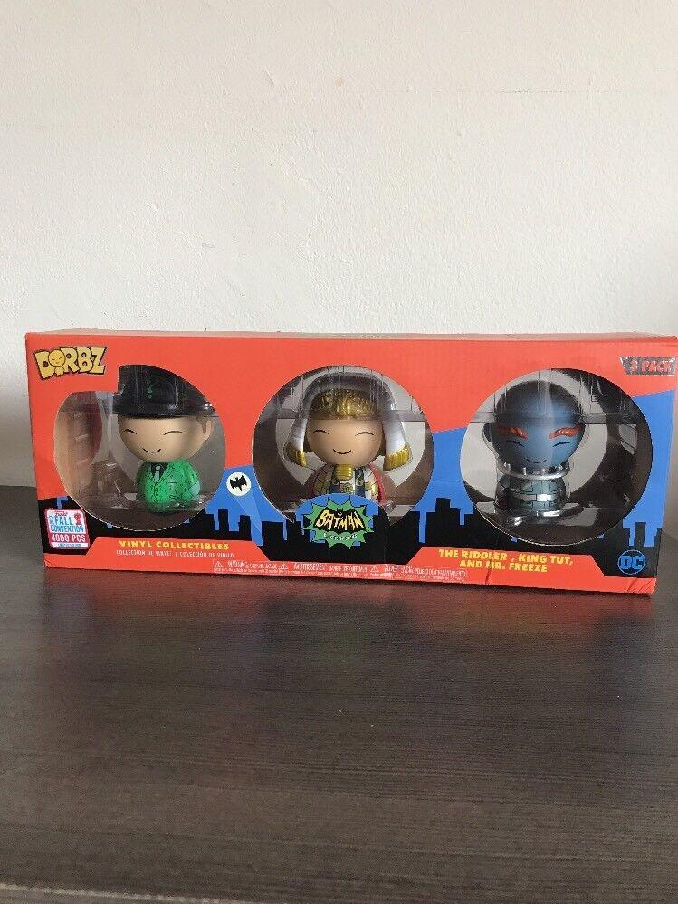 Funko Dorbz Batman Classic TV Villains Riddler, King Tut & Mr.Freeze