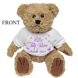 personalisiertes teddyb r kleine gro er bruder big sister neu baby geschenk ebay. Black Bedroom Furniture Sets. Home Design Ideas