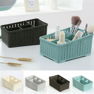 Storage-Basket-Plastic-Box-Bin-Clothes-Container-Laundry-Holder-Home-Organizer