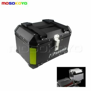 Black-Motorcycle-Aluminum-Outback-Monokey-Rear-Cases-Luggage-Top-Boxes-Custom