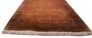 Wool-Rust-Rug-3-039-X-10-039-Persien-Hand-Knotted-Oushak-Oriental-2-039-7-034-X9-039-9-034-Carpet