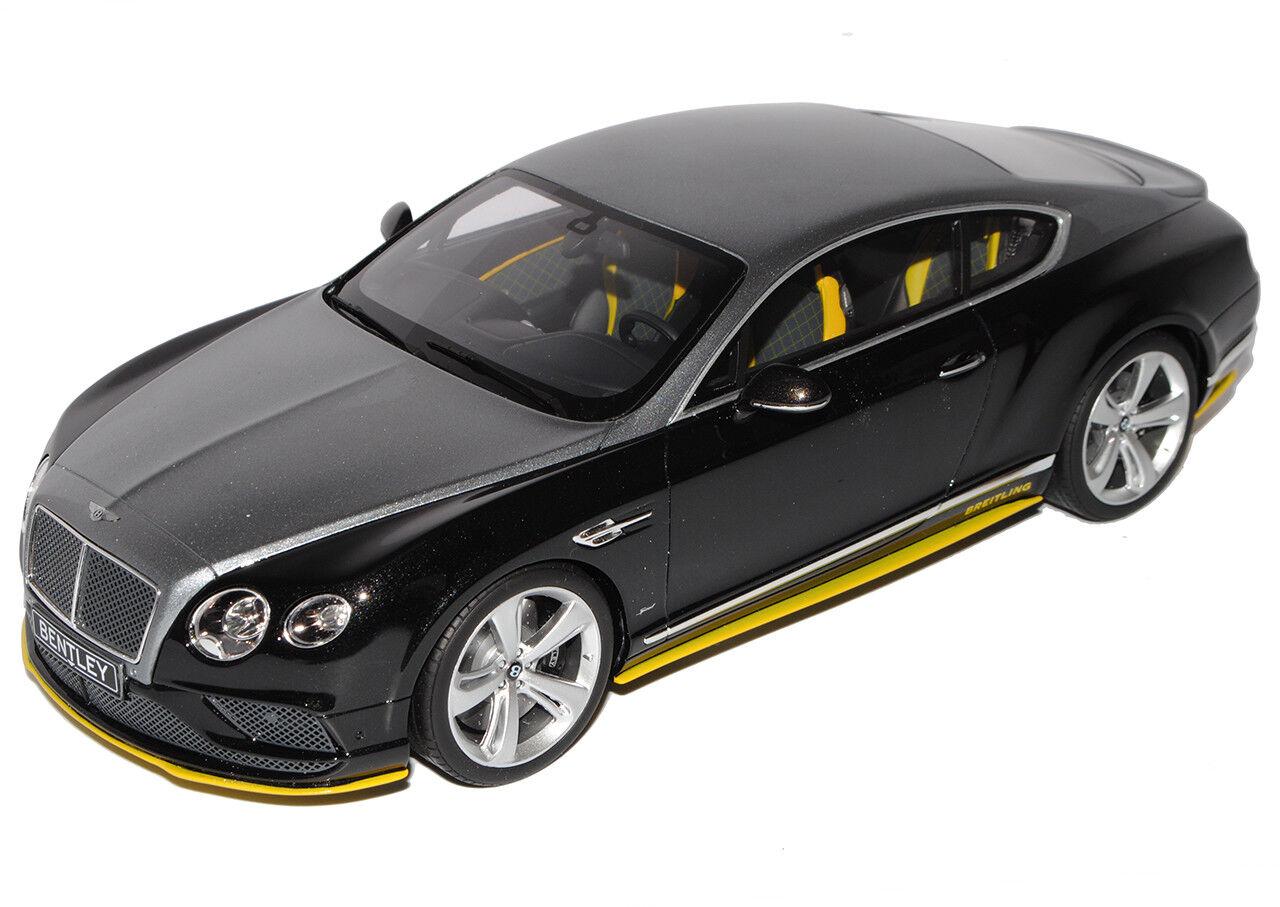 Bentley Bentley Bentley Continental GT Speed Breitling Noir Argent Jet équipe NR 734 1 18 GT... a4274a