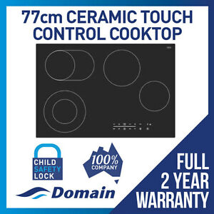 NEW-DOMAIN-77cm-CERAMIC-GLASS-TOUCH-CONTROL-ELECTRIC-COOKTOP-CARTON-DAMAGED