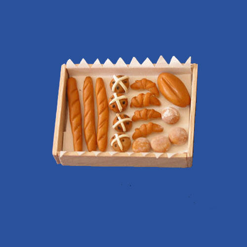Dolls House 12th Scale - Tray Of Breads & Buns