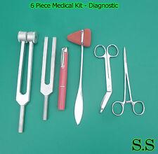 6 Piece Medical Kit Diagnostic Emt Nursing Surgical Ems Student Paramedic