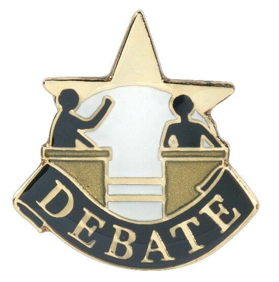 Debate Letterman Jacket Pin,  Debate Award Pin