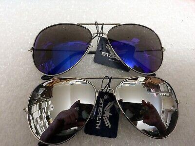 Silver Mirror Lens Top Cop Av Lot, Silver Mirror Frame Sunglasses