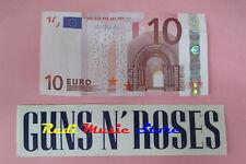 ADESIVO STICKER GUNS N ROSES 15X4 CM (*) BIANCO no cd dvd lp mc vhs promo live