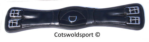 CS Short ContouROT Dressage Leder Girth  Dressage ContouROT 28
