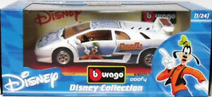 BURAGO 2214-DISNEY COLLECTION-GOOFY LAMBORGHINI DIABLO-SC.1/24-MADE IN ITALY