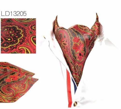 Vintage Polka Dot Wedding Formal Cravat Ascot Scrunch Self British style Gentlem