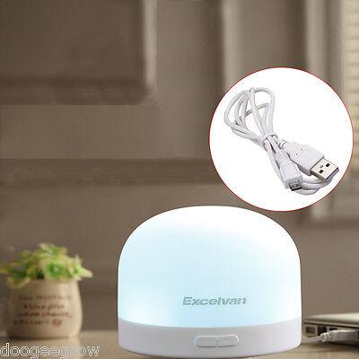 USB Ultrasonico Aroma Escencial Difusor Purificador Aire Aromaterapia 7 LED Luz