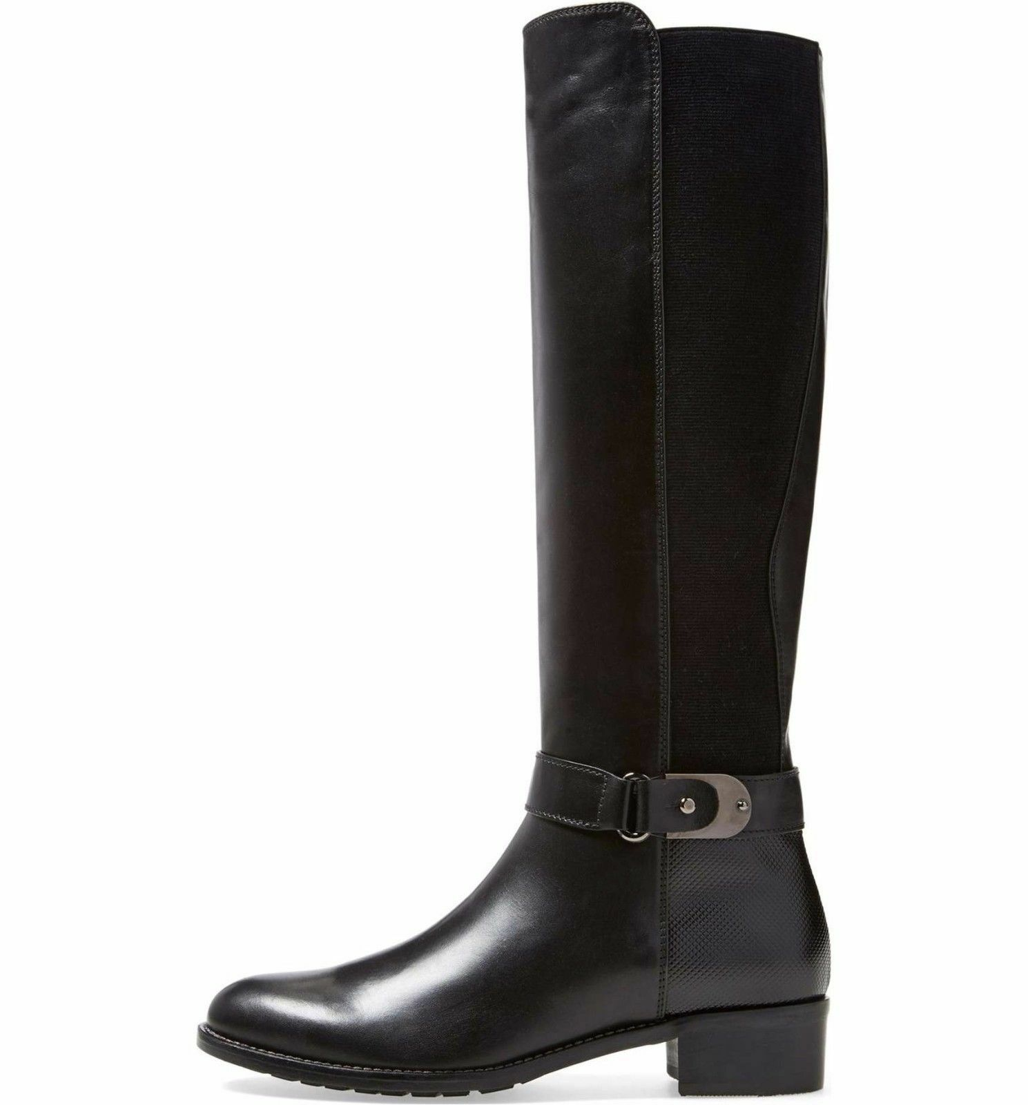 AQUATALIA Olita Riding Boots Black Soft Leather Wide Regular Calf Tall 4 5  495