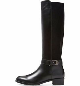 AQUATALIA-Olita-Riding-Boots-Black-Soft-Leather-Wide-Regular-Calf-Tall-4-5-495