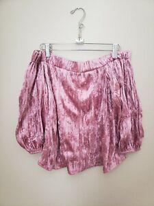 B. Original Shoe Fly Drop Shoulder Pink Rose Colored Medium Velvet Shirt (H-2)