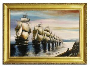 Oil-Painting-Pictures-Hand-Painted-with-Frame-Baroque-Art-G96477