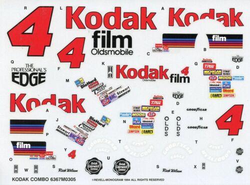 Monogram Revell 1:24 #4 Kodak Combo Film Stock Car Decal Sheet #6367U