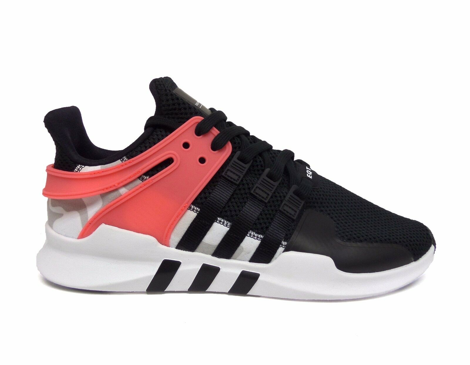 Adidas Uomo EQT SUPPORT ADV 2 Low Running Shoes Nero/Nero/Turbo BA7719 Sz12 b