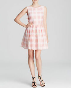 fa09c6a4a6a6 MARC BY MARC JACOBS BLURRED SILK GINGHAM DRESS PINK MULTI NWT $298 ...