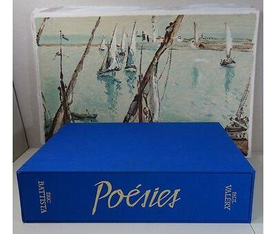 Les Poésies de Paul Valéry - Peintures originales de BATTISTA + SUITE 1980 RARE