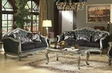 Acme Chantelle  Sofa and Loveseat in Antique Silver Finish Furniture 51540