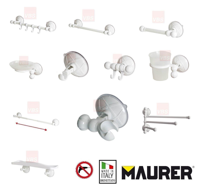 Accessori Da Bagno Con Ventosa.Maurer Accessori Arredo Bagno Wc Con Ventosa Made In Italy Brevettato 10 Kg Ebay