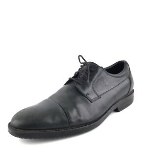Image is loading Rockport-Dressport-Black-Leather-Dress-Oxfords-Mens-Shoes-
