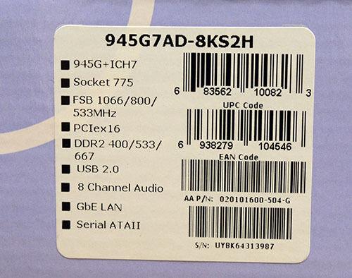 Foxconn 945G7AD-8KS2H Windows 7 64-BIT