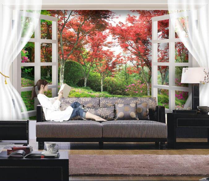 3D Ahornbaum Fenster 88 Tapete Wandgemälde Tapete Tapeten Bild Familie DE Summer | Outlet Store Online  | New Products  | Förderung