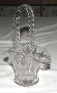 Glass-Basket-Vase-with-etched-Flower-design-7-034-x-5-034-x-2-3-4-034