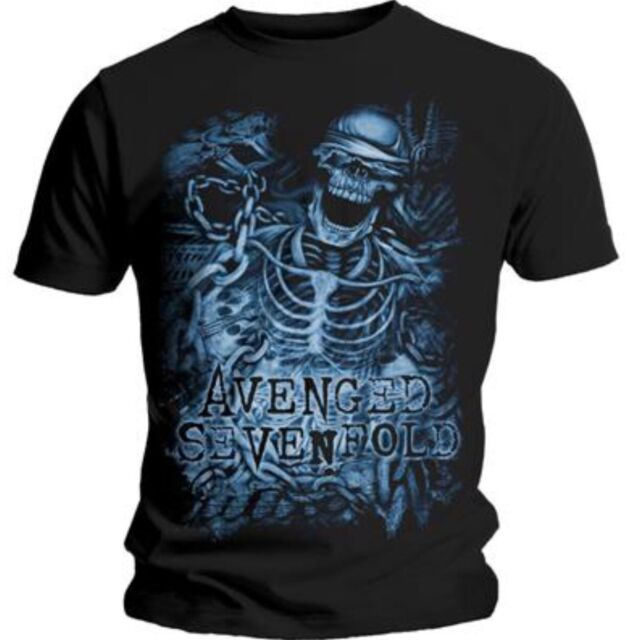 Avenged Sevenfold - Chained Skeleton  T SHIRT Size Large