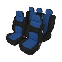 Air Bag Compatible Car Seat Covers Blue & Black - For Vw Polo 1999 To 2001