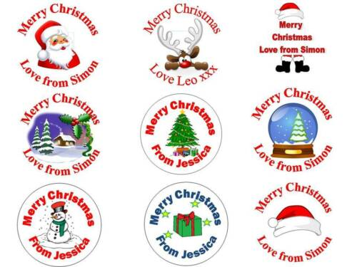 35 Personalised Christmas Stickers 3 for 2 Party Labels Invitations Xmas Sticker