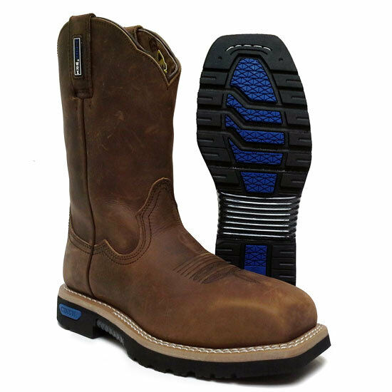 New Men's Cinch WXM143 WRX Master Brown Oiled Crazy Horse Leather Work Boot