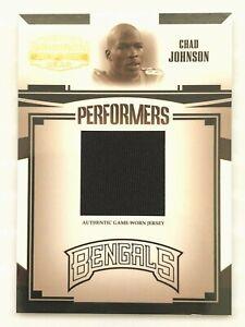 CHAD-JOHNSON-2005-DONRUSS-GRIDIRON-GEAR-37-50-Game-Worn-Jersey-Card