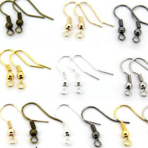 100Pcs-Ear-Wire-Coil-Making-Findings-Jewelry-Earring-Hook-Craft-Gifts-Beads-Stud
