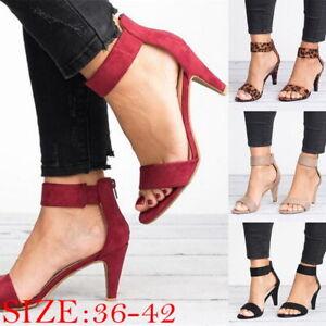 Summer-Womens-Fashion-High-Heel-Sandals-Open-Shoes-Strap-Heel-Sandals