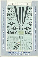 1/48 MicroScale Decals US Navy Phantom F-4N VR-154 & F-4S VF-171 48-219
