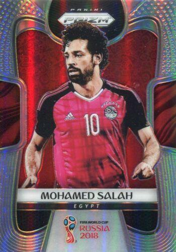 Prizm Copa del Mundo 2018 Plata paralelo tarjeta base #54 Mohamed Salah-Egipto