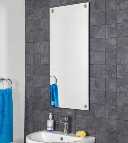 45 X 120cm Rectángulo Sin Marco Espejo de baño agujeros perforados Pre Cromo Tapa De Pared