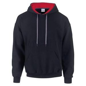 Gildan-Contrast-Colour-Heavy-Blend-Hoodie-Hooded-Sweatshirt-Jumper