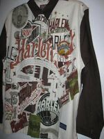 Boys L Xl 16/18 20 Long Sleeve Shirt Fubu Harlem Globetrotters Platinum Brown