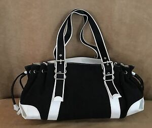White-House-Black-Market-shoulder-bag-hobo-tote-purse-canvas