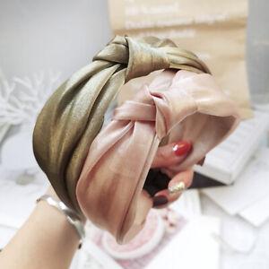 Women-039-s-Wide-Tie-Hairband-Bow-Knot-Headband-Hair-Hoop-Band-Twist-Accessories
