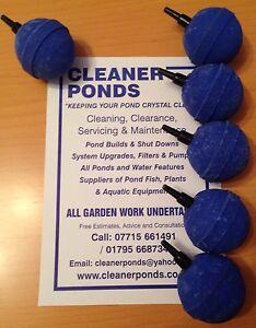 """Pet Supplies Gentle X6 Round Blue 50mm 2"""" Airstone Pumps (water)"""