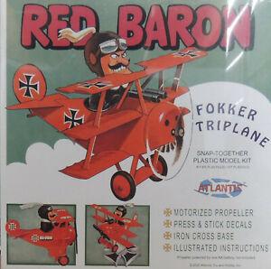 Atlantis 5903 Red Baron Fokker Tri-Plane Snap Model Kit