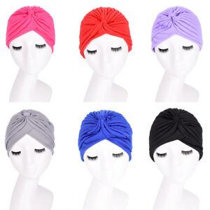 New-Fashion-Unisex-Indian-Style-Stretchable-Turban-Hat-Hair-Head-Wrap-Cap-FOYJ