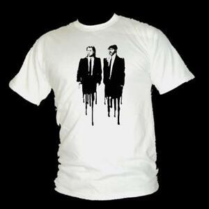 Pulp-Fiction-Classico-tarrantino-TRAVOLTA-amp-Jackson-Film-T-shirt-Uomo