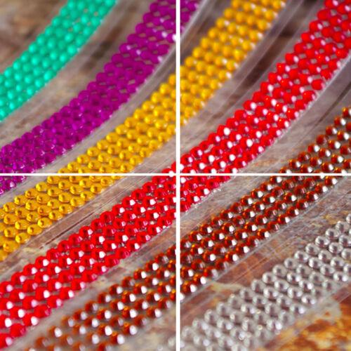 Self-Adhesive Acrylic Rhinestones Stick On Scrapbooking Craft Sticker Tape 2016