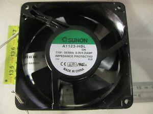1x A1123-HBL.GN  Fan;  115V; 120x120x38mm 50/60Hz 0.28/0.25AMP